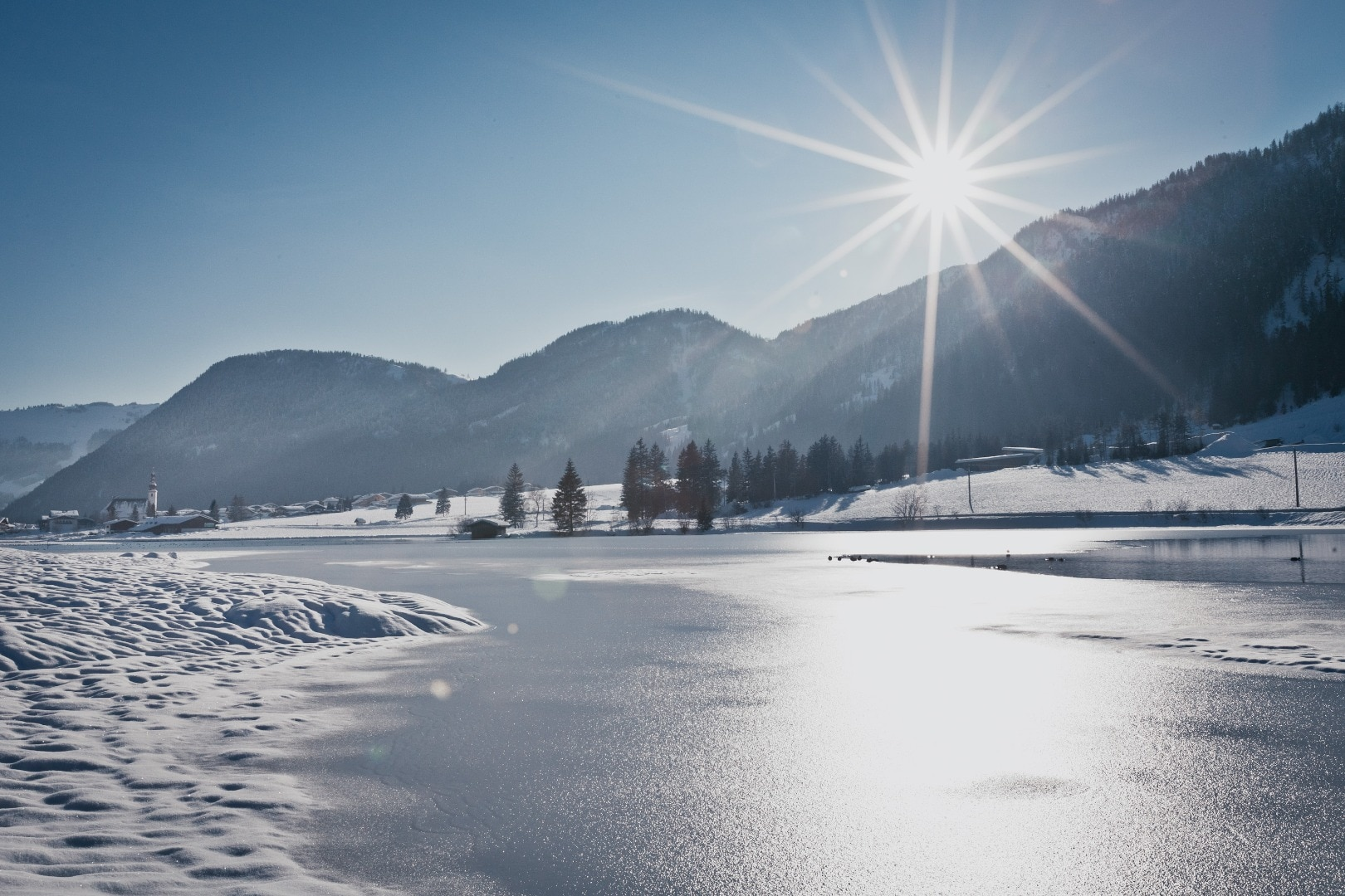 Winterlandschaft Pillersee