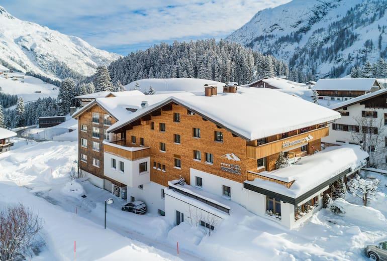 Das Hotel Walserberg in Warth am Arlberg