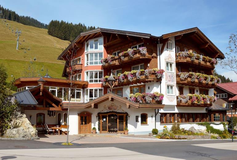 Das Hotel Alpenstüble im Sommer